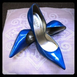 Guess By Marciano Blue height heels Sz 8